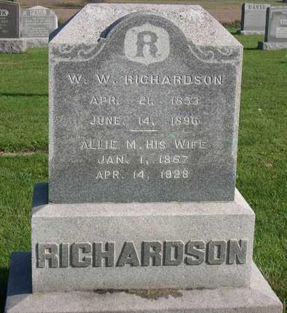 RICHARDSON, W. W. - Linn County, Iowa | W. W. RICHARDSON