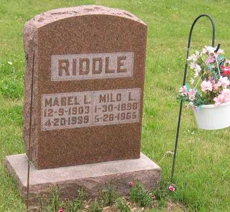 RIDDLE, MABEL L. - Linn County, Iowa | MABEL L. RIDDLE