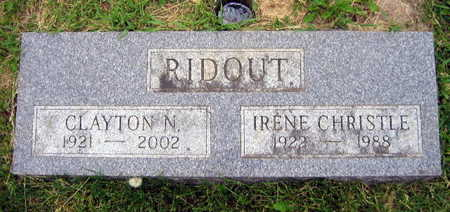 CHRISTLE RIDOUT, IRENE - Linn County, Iowa | IRENE CHRISTLE RIDOUT