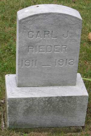RIEDER, CARL J. - Linn County, Iowa | CARL J. RIEDER