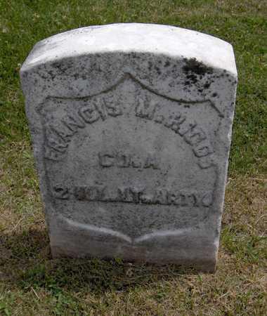 RIGGS, FRANCIS M. - Linn County, Iowa | FRANCIS M. RIGGS