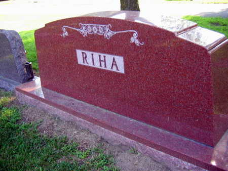 RIHA, FAMILY STONE - Linn County, Iowa | FAMILY STONE RIHA