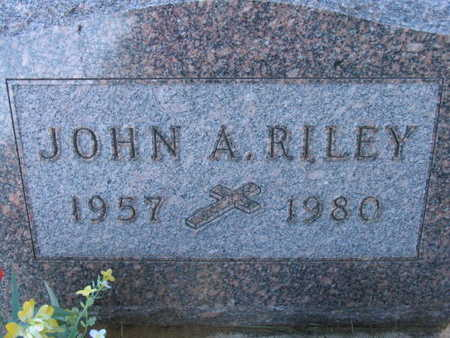 RILEY, JOHN A. - Linn County, Iowa | JOHN A. RILEY