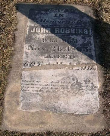 ROBBINS, JOHN - Linn County, Iowa | JOHN ROBBINS