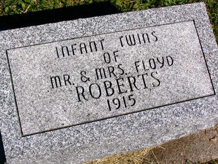 ROBERTS, INFANT TWINS - Linn County, Iowa   INFANT TWINS ROBERTS
