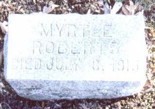 ROBERTS, MYRTLE - Linn County, Iowa | MYRTLE ROBERTS