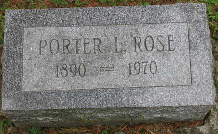 ROSE, PORTER L. - Linn County, Iowa | PORTER L. ROSE