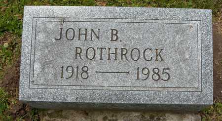 ROTHROCK, JOHN B. - Linn County, Iowa | JOHN B. ROTHROCK