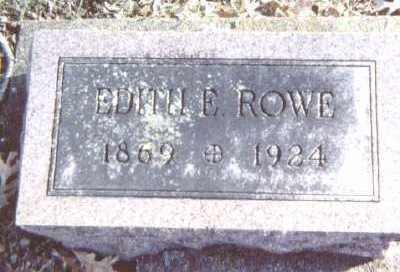 ROWE, EDITH E. - Linn County, Iowa | EDITH E. ROWE