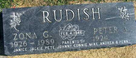RUDISH, ZONA G. - Linn County, Iowa | ZONA G. RUDISH