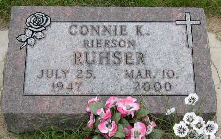 RUHSER, CONNIE K. - Linn County, Iowa | CONNIE K. RUHSER