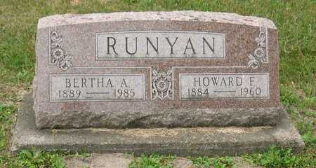 RUNYAN, BERTHA A. - Linn County, Iowa | BERTHA A. RUNYAN