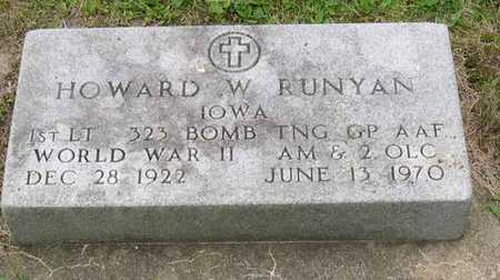 RUNYAN, HOWARD W. - Linn County, Iowa | HOWARD W. RUNYAN