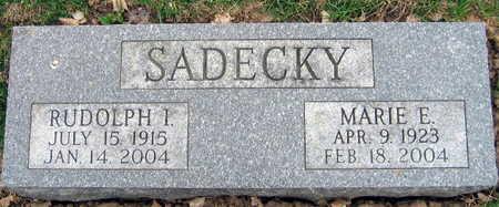 SADECKY, MARIE E. - Linn County, Iowa | MARIE E. SADECKY