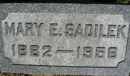 SADILEK, MARY   E. - Linn County, Iowa | MARY   E. SADILEK