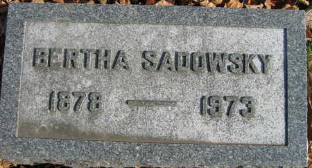 SADOWSKY, BERTHA - Linn County, Iowa | BERTHA SADOWSKY