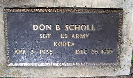 SCHOLL, DON B. - Linn County, Iowa | DON B. SCHOLL