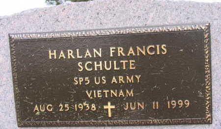 SCHULTE, HARLAN FRANCIS - Linn County, Iowa   HARLAN FRANCIS SCHULTE