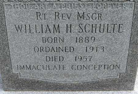 SCHULTE, REV. WILLIAM H. - Linn County, Iowa | REV. WILLIAM H. SCHULTE