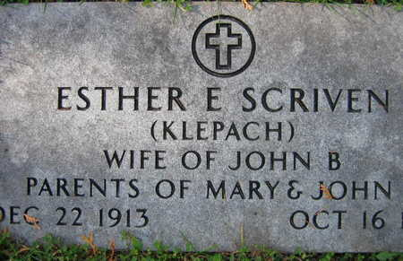 KLEPACH SCRIVEN, ESTHER E. - Linn County, Iowa | ESTHER E. KLEPACH SCRIVEN