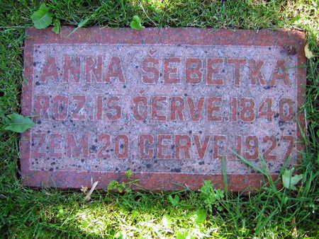 SEBETKA, ANNA - Linn County, Iowa | ANNA SEBETKA