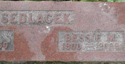 SEDLACEK, BESSIE M. - Linn County, Iowa | BESSIE M. SEDLACEK