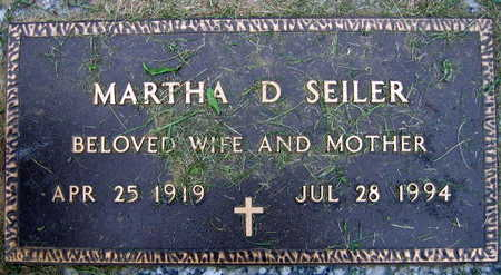 SEILER, MARTHA D. - Linn County, Iowa | MARTHA D. SEILER