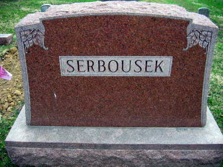 SERBOUSEK, FAMILY STONE - Linn County, Iowa | FAMILY STONE SERBOUSEK