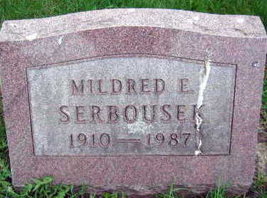 SERBOUSEK, MILDRED E. - Linn County, Iowa | MILDRED E. SERBOUSEK