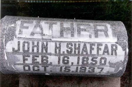 SHAFFAR, JOHN HENRY - Linn County, Iowa | JOHN HENRY SHAFFAR