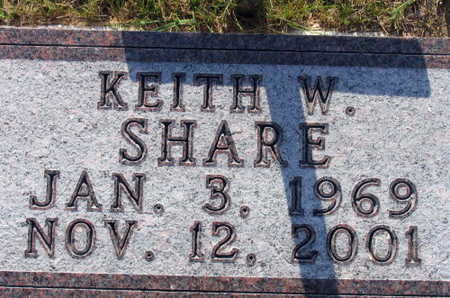 SHARE, KEITH W. - Linn County, Iowa | KEITH W. SHARE