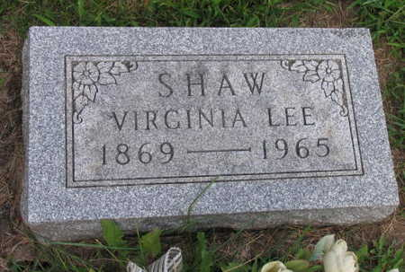 SHAW, VIRGINIA LEE - Linn County, Iowa | VIRGINIA LEE SHAW