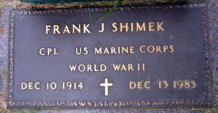SHIMEK, FRANK J. - Linn County, Iowa | FRANK J. SHIMEK