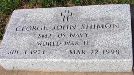 SHIMON, GEORGE JOHN - Linn County, Iowa | GEORGE JOHN SHIMON