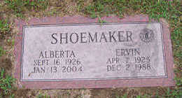 SHOEMAKER, ALBERTA - Linn County, Iowa | ALBERTA SHOEMAKER