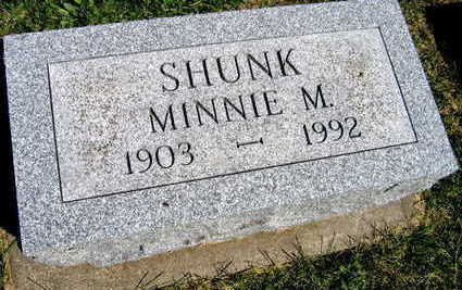 SHUNK, MINNIE M. - Linn County, Iowa | MINNIE M. SHUNK