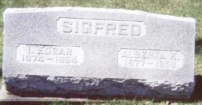 SIGFRED, I. EDGAR - Linn County, Iowa | I. EDGAR SIGFRED