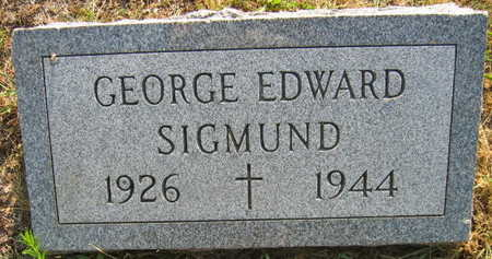 SIGMUND, GEORGE EDWARD - Linn County, Iowa | GEORGE EDWARD SIGMUND