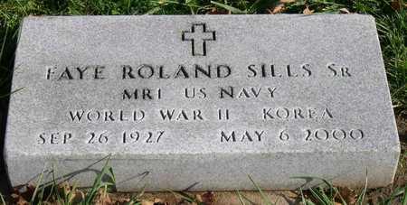 SILLS, FAYE ROLAND, SR. - Linn County, Iowa | FAYE ROLAND, SR. SILLS