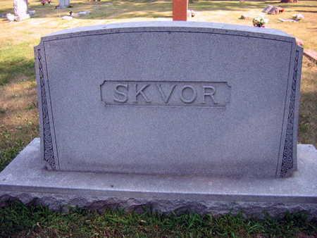 SKVOR, FAMILY STONE - Linn County, Iowa | FAMILY STONE SKVOR