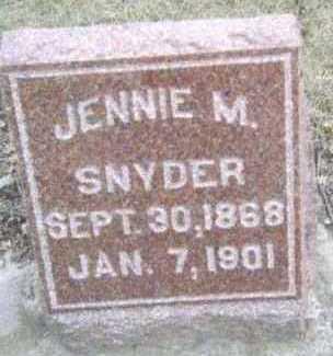 SNYDER, JENNIE M. - Linn County, Iowa | JENNIE M. SNYDER