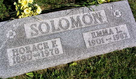 SOLOMON, HORACE F. - Linn County, Iowa | HORACE F. SOLOMON