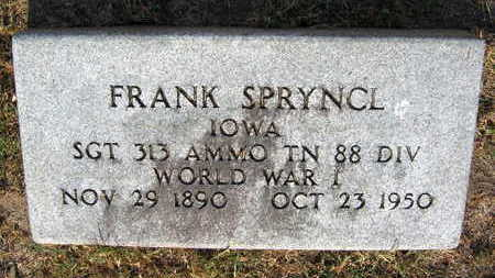 SPRYNCL, FRANK - Linn County, Iowa | FRANK SPRYNCL
