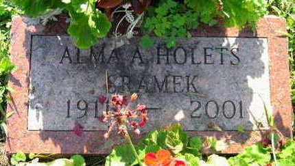 HOLETS SRAMEK, ALMA A. - Linn County, Iowa | ALMA A. HOLETS SRAMEK