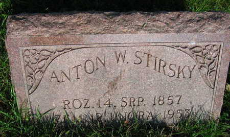 STIRSKY, ANTON W. - Linn County, Iowa | ANTON W. STIRSKY