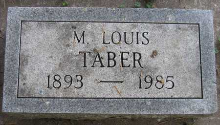 TABER, M. LOUIS - Linn County, Iowa | M. LOUIS TABER