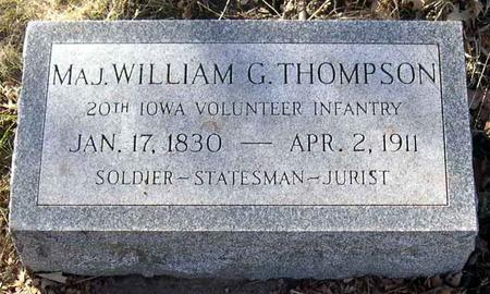 THOMPSON, WILLIAM G., MAJ. - Linn County, Iowa | WILLIAM G., MAJ. THOMPSON