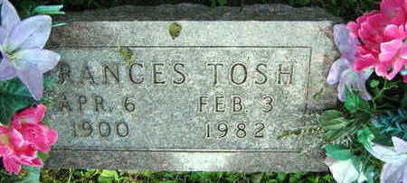 TOSH, FRANCES - Linn County, Iowa | FRANCES TOSH
