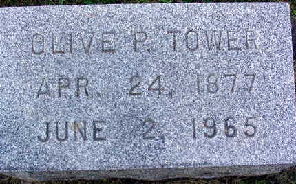 TOWER, OLIVE P. - Linn County, Iowa | OLIVE P. TOWER