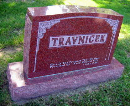 TRAVNICEK, FAMILY STONE - Linn County, Iowa | FAMILY STONE TRAVNICEK